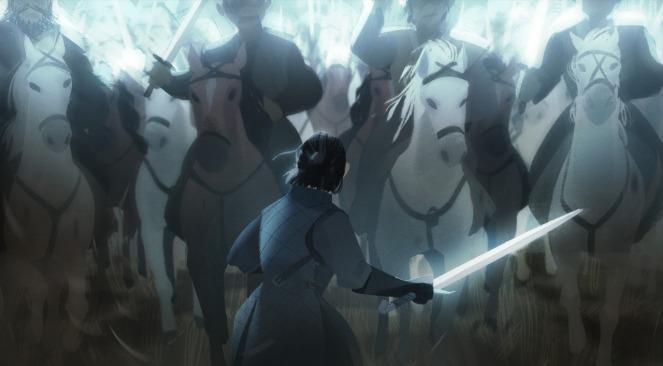 Jon Snow en la Batalla de los Bastardos de Juego de Tronos por Alex Cho