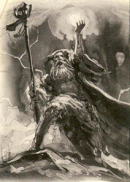 Arúspice Warhammer Fantasy recogiendo los Vientos de la Magia