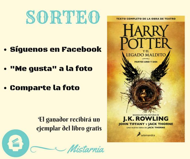 sorteo libro Harry Potter